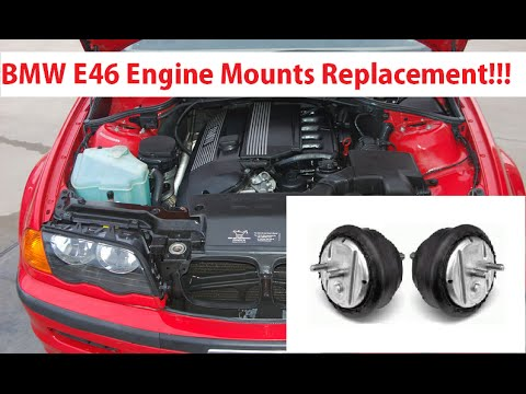 BMW e46 engine mount replacement 1999-2005 323 325 328 330 - YouTube