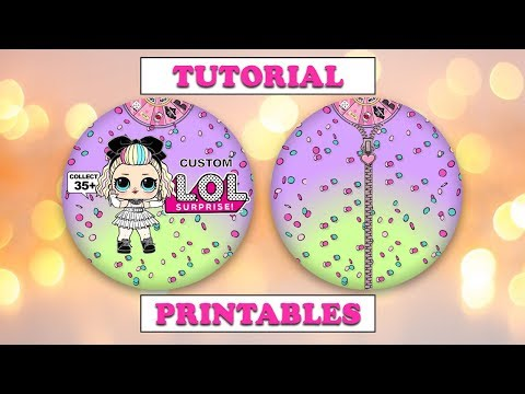 How to Make 2D Paper Custom LOL Surprise Dolls Tutorial with Printables