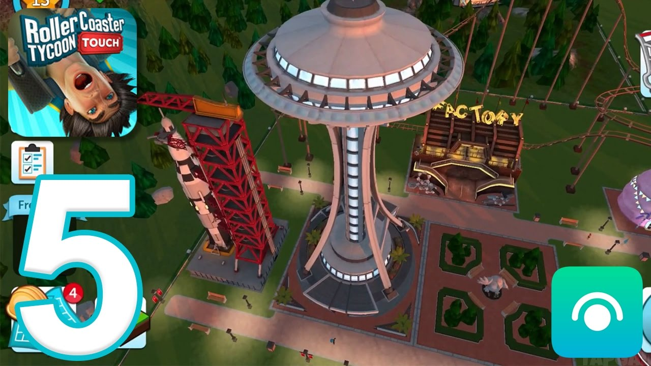 RollerCoaster Tycoon Touch - Gameplay Walkthrough Part 5 - Level 12-14 (iOS)