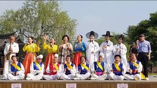 ''힐링공연''엔딩/합주//울고넘는 박달재(단체사진촬영…