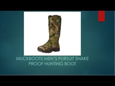 3f497ac30ba MuckBoots Men's Pursuit Snake Proof Hunting Boot