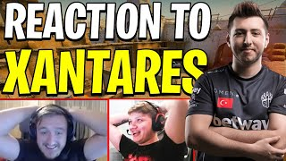 PRO PLAYERS REACTION TO XANTARES (+CASTER)