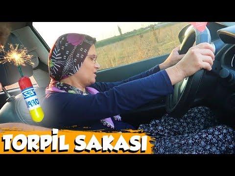 ANNEM ARABA SÜRERKEN TORPİL ATTIM!!
