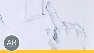Hände zeichnen - Tutorial Hand zeichnen. Bewegung: antippen