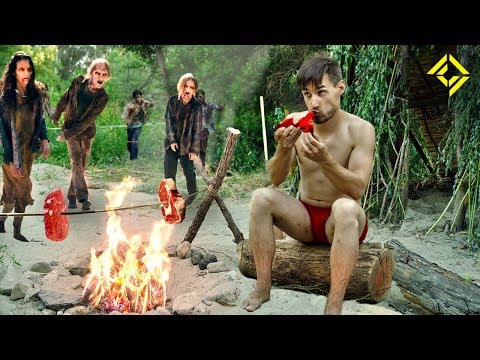 Primitive Technology: CRAFTING a Zombie Meat Harvester