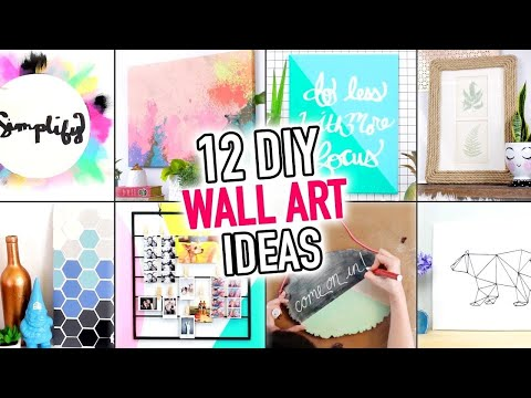 12 EASY Wall Art & Room Decoration Ideas – DIY Compilation Video – HGTV Handmade