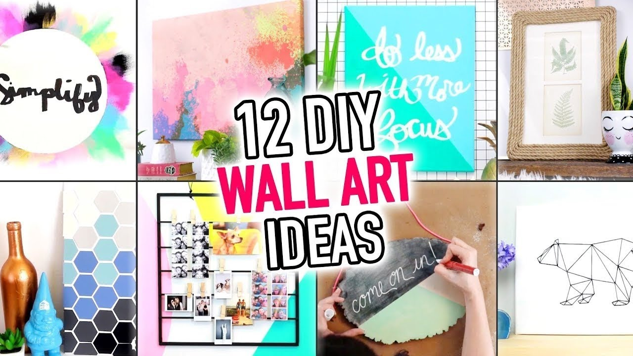 12 Easy Wall Art Room Decoration Ideas Diy Compilation Video