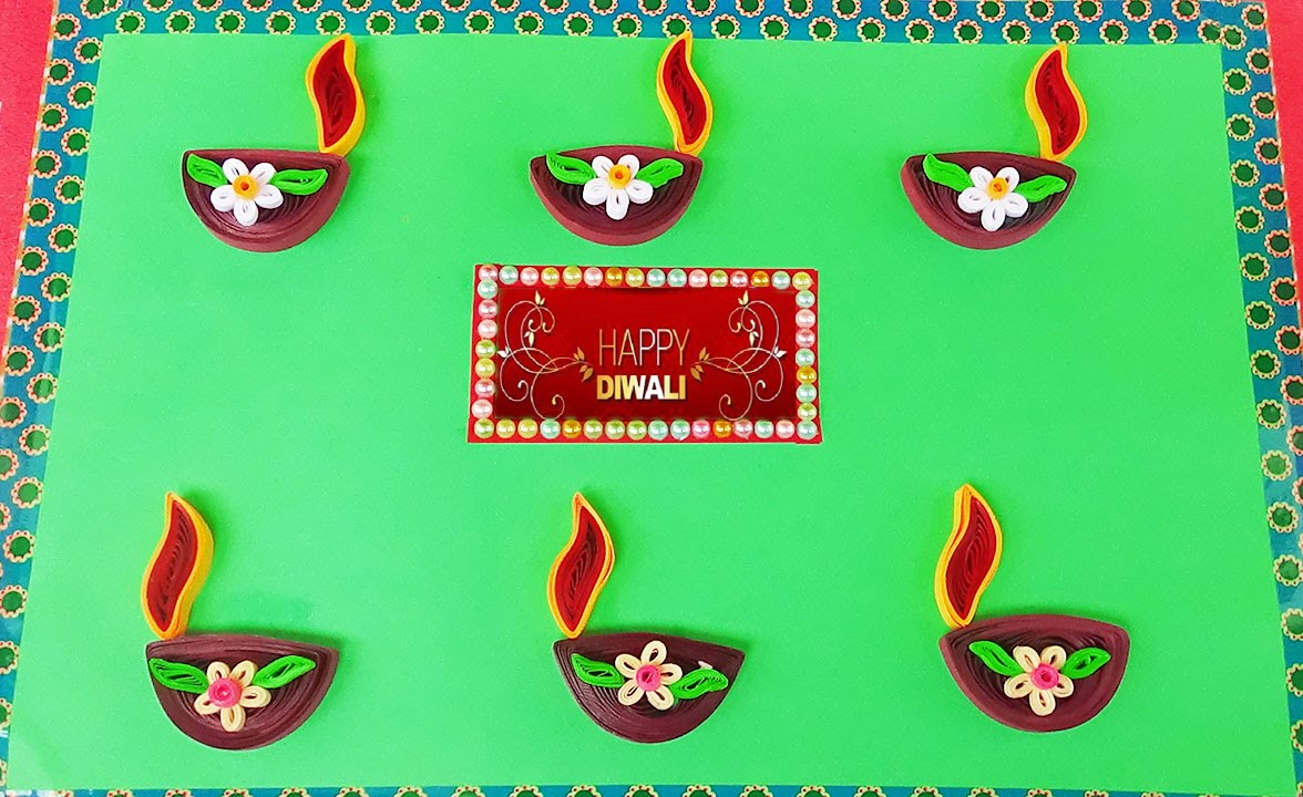 Paper quilling handmade greeting cards for diwali festival youtube kristyandbryce Images