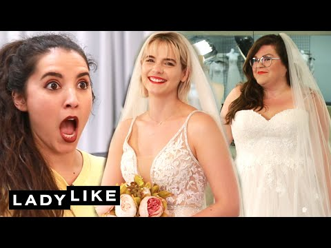 We Try On Wedding Dresses  Ladylike
