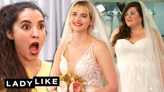 We Try On Wedding Dresses • Ladylike