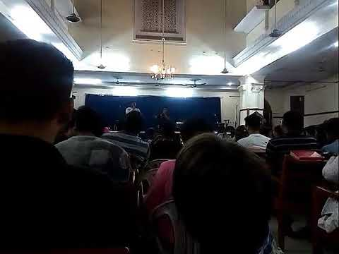 Emmanuel Joseph raps at Allahabad Bible Seminary