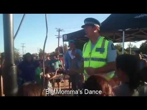 Dancing Police Officer in Auckland ( Newzealand)