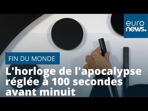 euronews (en français): La fin du monde se rapproche : l'horloge de l'apocalypse réglée à 100 secondes avant minuit