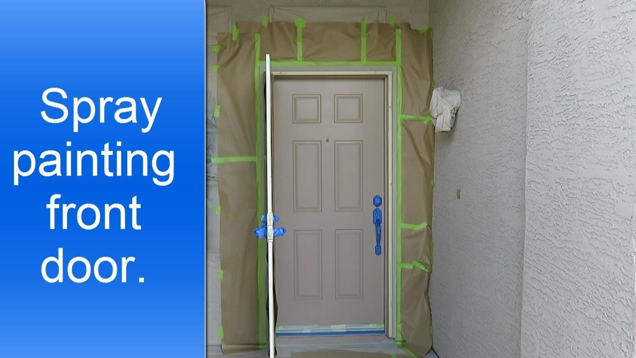 Spray painting a front door. - YouTube