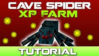 Minecraft Cave Spider XP Farm Tutorial [Easy to Build]