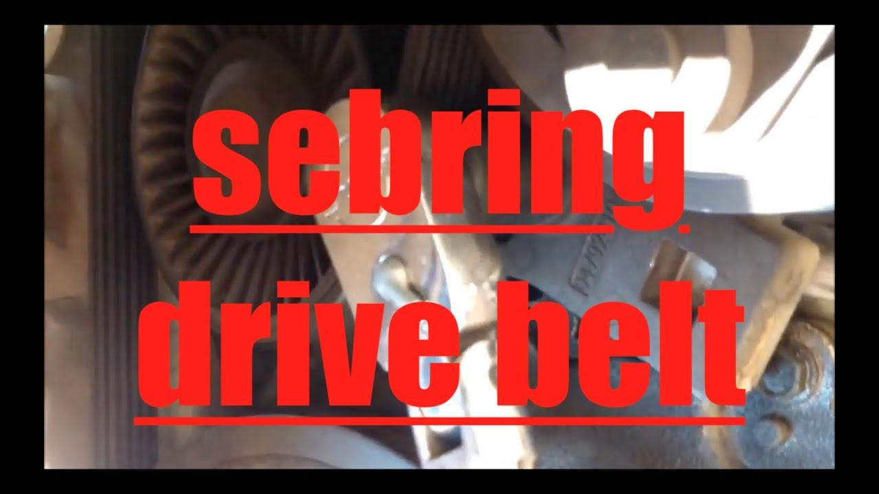How To Replace Alternator Ac Drive Belt Chrysler Sebring Fix It Angel You