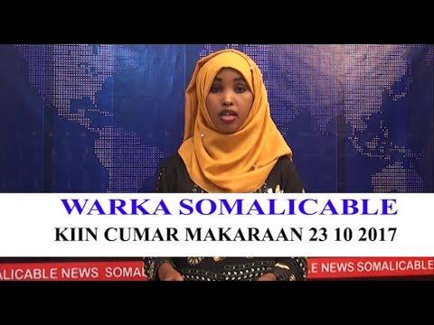 WARARKA SOMALI CABLE IYO KIIN CUMAR MAKARAAN 23 10 2017