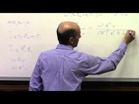 Lecture 22 (Fisher LDA & Bayesian Classification)