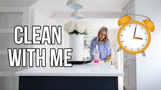SPEED CLEAN POWER HOUR | CLEAN WITH ME DAILY CLEANING ROUTINE 2018