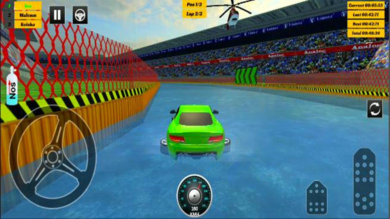 Water Car Stunt Racing 3d Cars Stunt Games Android Gameplay Car Stunt Games Android Youtube