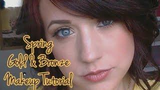 Spring Bronze & Gold Makeup Tutorial Thumbnail