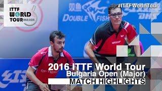 2016 Bulgaria Open Highlights: Adrien Mattenet/Thomas Le Breton vs Tsai Chun-Yu/Yang Tzu-Yi (Pre)