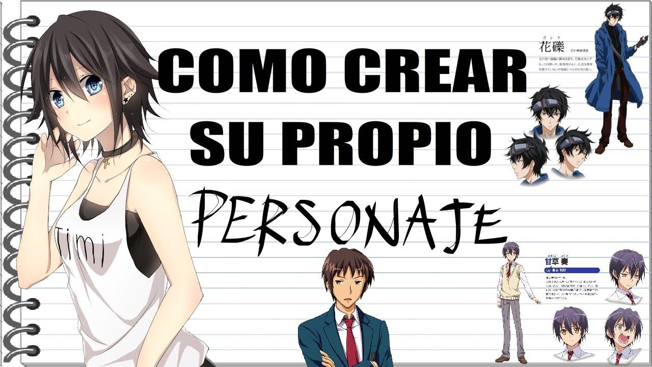 Como Crear Tu Propio Personaje Estilo Manga 1ª Parte Youtube