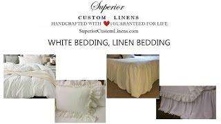 White Bedding, Linen Bedding, Linen Duvet Cover, Linen Sheets, Shabby Chic Bedding