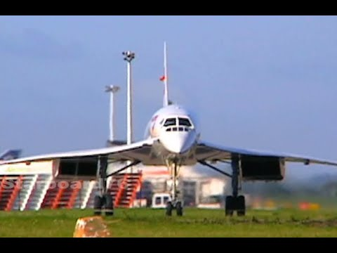 Air France & British Airways SuperSonic Concordes At London Heathrow And Paris CDG Airports