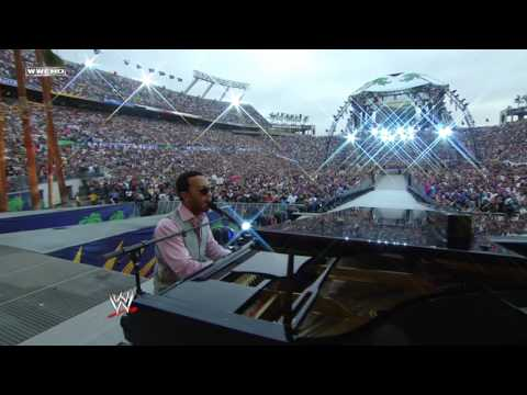 "John Legend sings ""America the Beautiful"" at Wrestlemania XXIV"