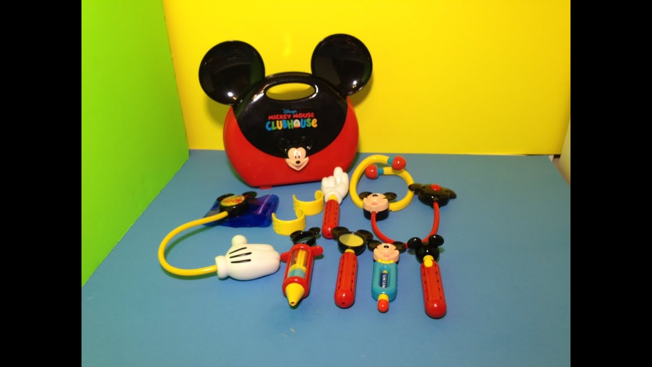 Mickey Mouse Toys : Mickey mouse clubhouse doctor kit playset toys unboxing