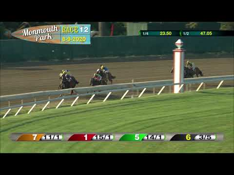 video thumbnail for MONMOUTH PARK 08-09-20 RACE 12