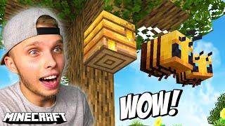 ZNALAZŁEM PSZCZOŁY w Minecraft!