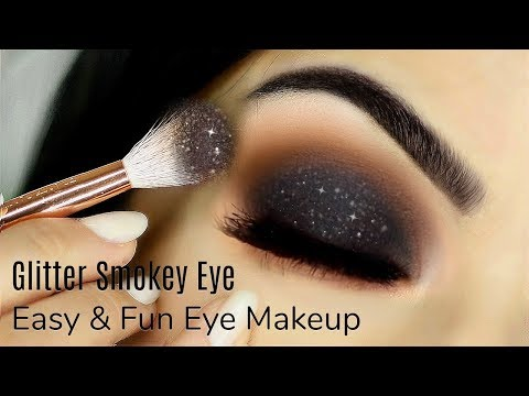 Beginners Glittery Smokey Eye Makeup Tutorial | How To Apply Eyeshadow | TheMakeupChair