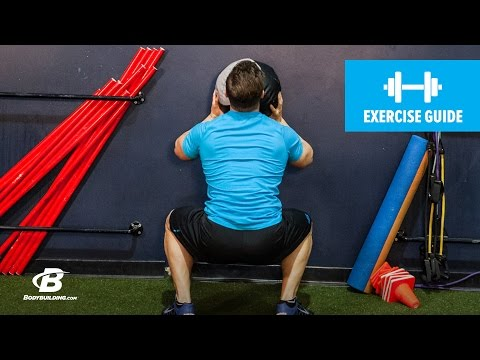 How To Do Wall Ball Squats | Exercise Guide