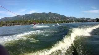 Wakeboarding Tres Marias Pie de la Cuesta Acapulco Mexico