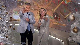 Ведущие ОНТ поздравляют с Новым годом: Александр Серебренников и Татьяна Рудаковская