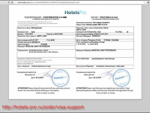 How to obtain a Russian Visa - Step 2 -Visa Application Form