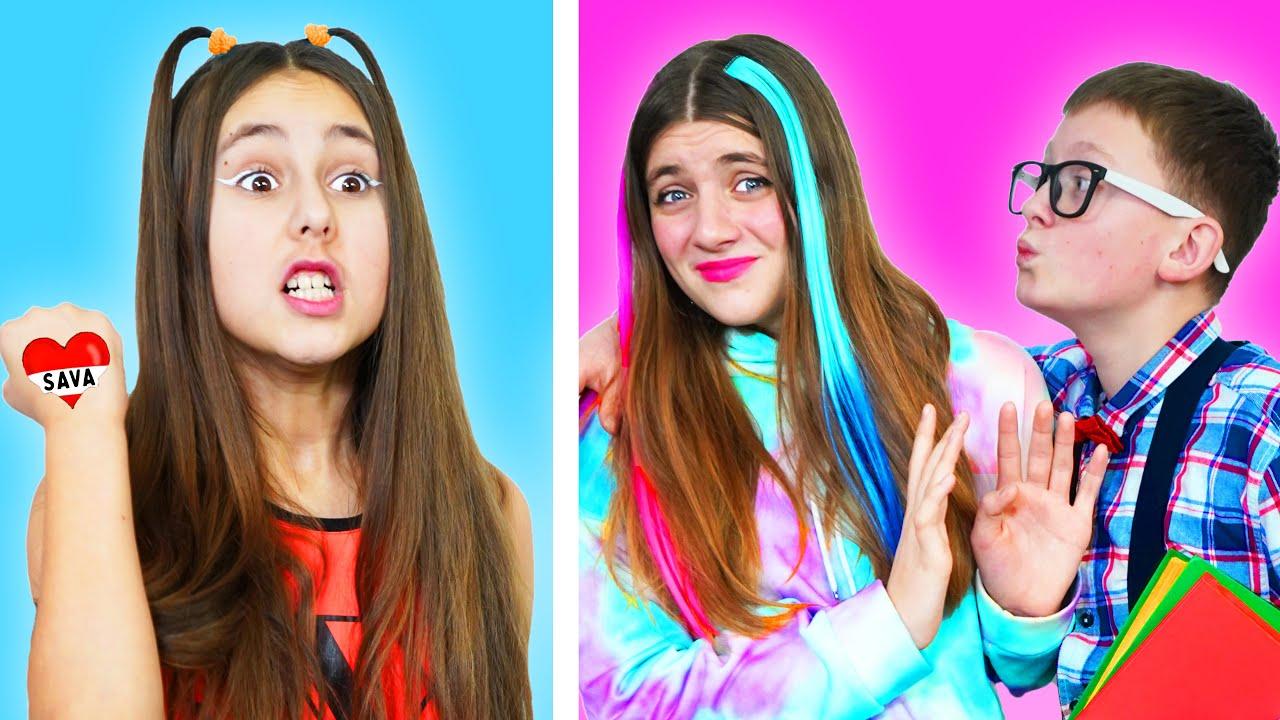 Chica Popular vs Nerd Novio! Situaciones divertidas con amigos para siempre