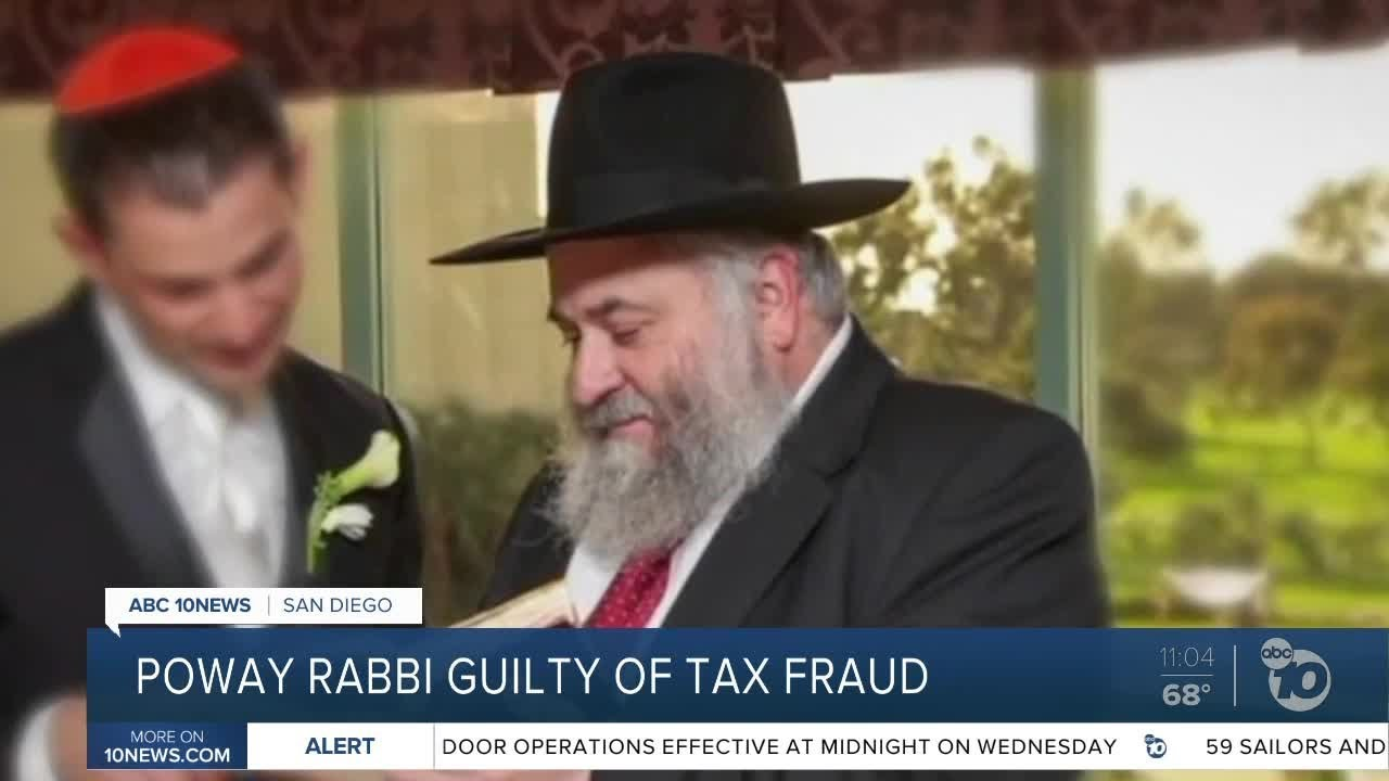 Poway rabbi pleads guilty to tax fraud