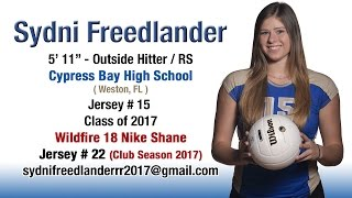Sydni Freedlander - 2016 High School & Club Volleyball Highlights