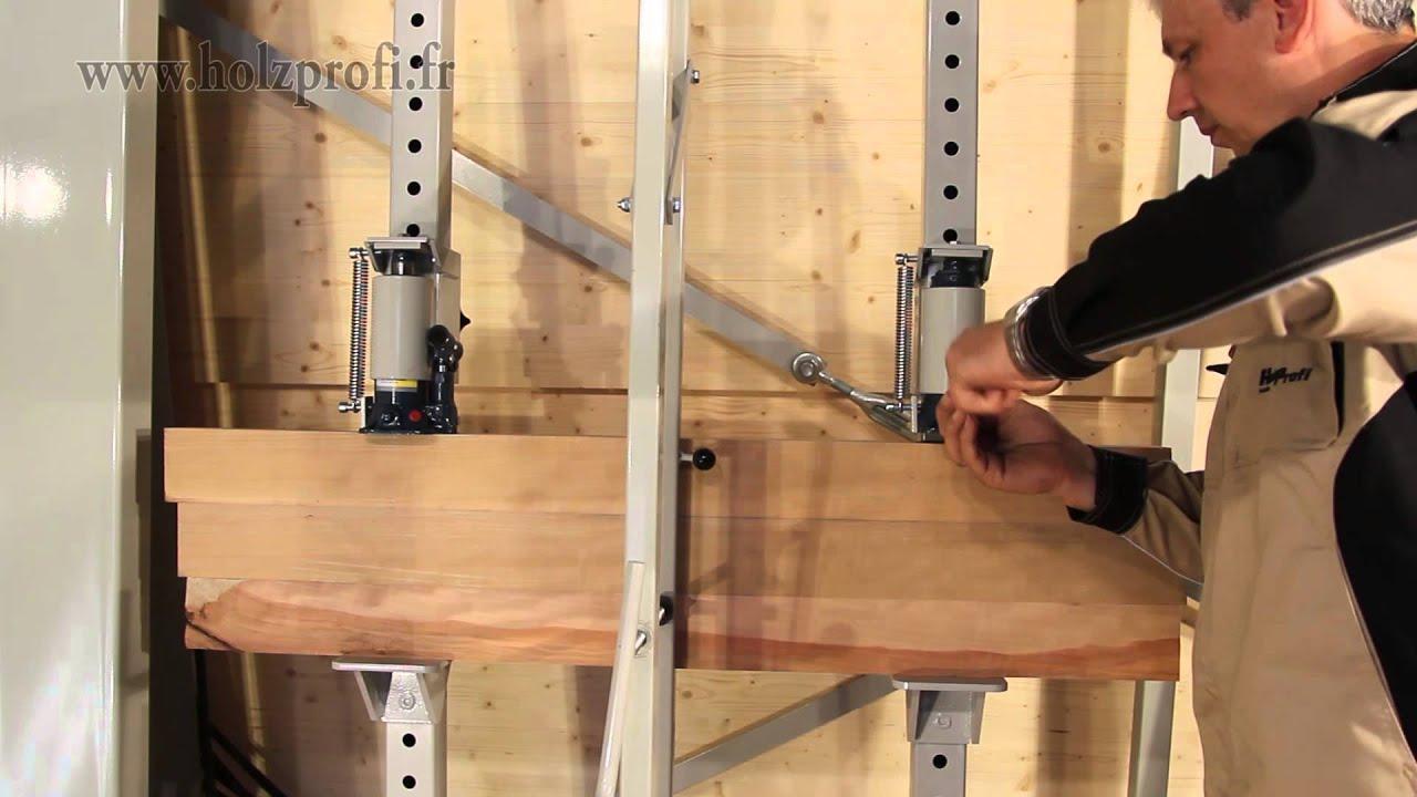 cadrer et coller des morceaux de bois gr ce aux cadreuses professionnelles holzprofi youtube. Black Bedroom Furniture Sets. Home Design Ideas