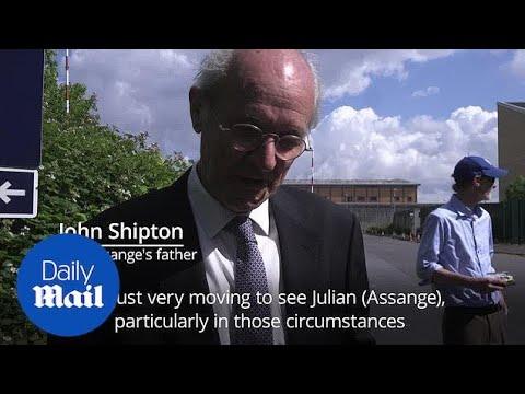 Julian Assange's father speaks after visiting son in Belmarsh prison