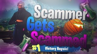 Squeaker Scammer Has NEW MYTHIC ITEM!! Scammer Gets Scammed Fortnite Save The World