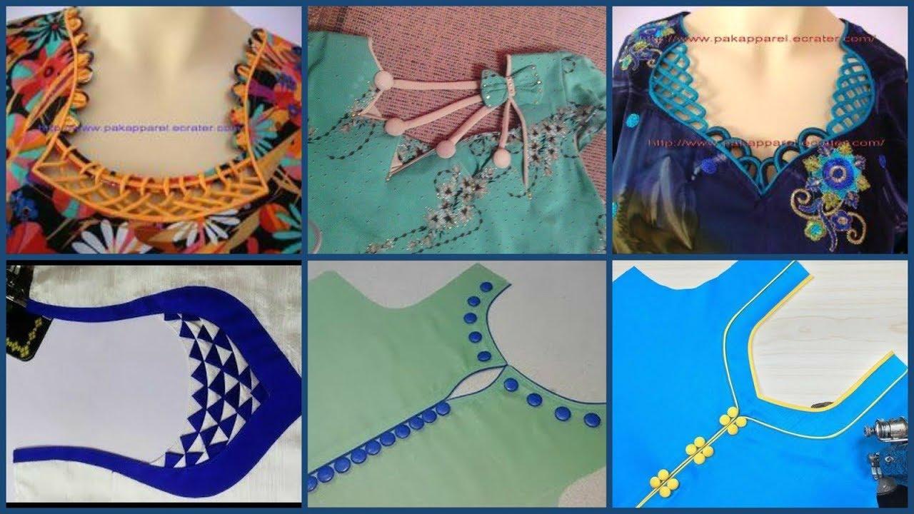 Most Beautiful Neck Designs Ideas Kurti Neck Designs Blouse Neck Designs Neckline Ideas Youtube