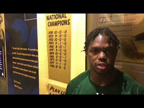 Shaun Crawford, Notre Dame Cornerback Talks About His Career To Date With The Fighting Irish.