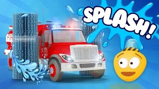 Fire Brigade | Fire Truck's Car Wash - Cartoon for kids about Fire Brigade's Wash | Episode 4