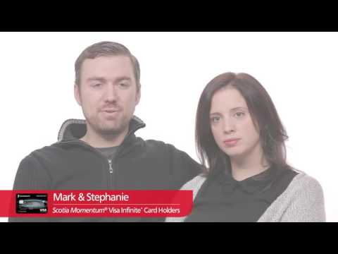 Mark & Stephanie love their insurance coverage with the Scotia Momentum Visa Infinite Card