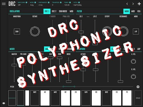 DRC Polyphonic Synthesizer Quick Play Demo for the iPad