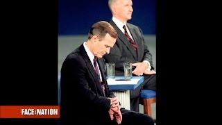 Dickerson's debate history: George Bush caught in the cutaway in 1992